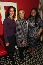 Small business owners joined Verizon Wireless Jan. 26 at the Hotel Monaco in the District for an evening of dialogue with Radio One founder and chairperson Cathy Hughes and Young, Black and Fabulous LLC founder and CEO Natasha Eubanks. The panel, facilitated by Black Enterprise Executive Editor Caroline Clarke, featured a discussion of business insights from two African-American small business owners. From left, Clarke, Hughes and Eubanks.See more photos from the Feb. 10, 2012 edition of The Back Page Extra.