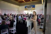 A packed room listened to breast cancer survivors Cokie Roberts and Carly Fiorina during the La Vie En Rose luncheon, held Oct. 10 at the pinked-out French Embassy and benefiting The George Washington University Medical Faculty Associates Comprehensive Breast Care Center and its Mammovan program. Fiorina talked about her experiences and survivorship of the disease.