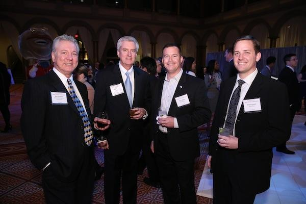 The Washington Business Journal held its 2013 Book of Lists celebration Jan. 31 at the National Building Museum. More than 1,000 people attended, including, from left, Bob Portaro of Global Workplace Solutions, Jim Hellier of GWS, and Eric Webb and Peter Kaiser, both of MarcParc.