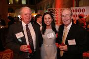 Doug McAlpine, left, and Harry Rauner, both of The Business Bank, caught up with Kerry Hancock of Convergence Technology Consulting at the Washington Business Journal's Book of Lists celebration.
