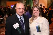 Among the attendees at the Washington Business Journal's Book of Lists celebration were Mehdi Banai of Tysons College and Ronda Adams of Wells Fargo.