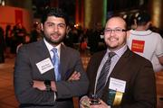 Bilal Siyal and Cristhian Castro represented Wells Fargo at the Washington Business Journal's Book of Lists celebration.