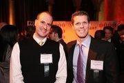 Emile Desjardins, left, and Corey Edmonds represented Experis at the Washington Business Journal's Book of Lists celebration.