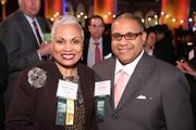 Barbara Lang of the D.C. Chamber of Commerce, left, and Scott Bolden of Reed Smith caught up at the Washington Business Journal's Book of Lists celebration.