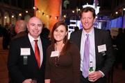 Among the attendees at the Washington Business Journal's Book of Lists celebration were, from left, Jeffrey Houle of DLA Piper LLP, Chelsey Clifton of the Washington Nationals Baseball Club and Mike Zaramba of Pragmatics.