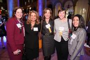 From left, Leslie Thornton of Courtesy Associates, Rebecca Cooper of ABC7, Mary Abbajay of Careerstone Group, Nicky Goren of the Washington Area's Women Foundation and Maritza Lizama of the Washington Business Journal caught up at the Book of Lists celebration.