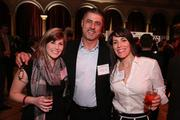 From left, Tegan Ellis and Dany Abi-Najm, both of Lebanese Taverna Group, caught up with Valerie Shollenberger of We Plan - You Party at the Washington Business Journal's Book of Lists celebration.