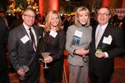 From left, Steven Stone, Judy Reines of Contract Furniture Options Inc., Barbara McDuffie of Baker Tilly and Tom McDuffie of Jacobs caught up at the Washington Business Journal's Book of Lists celebration.