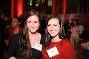 Laura Robinson, left, and Jen Libbares represented Cvent at the Washington Business Journal's Book of Lists celebration.