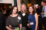 More than 1,000 people attended the Washington Business Journal's Book of Lists celebration, including, from left, Robin Feinman of Deloitte, Lauren Camilli and Layla Miller of Constellation.
