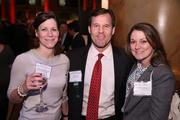Gary Scott of Long & Foster, with Amy Marcenaro Heckman, left, and Natalie Landgraf, both of Junior Achievement, caught up at the Washington Business Journal's Book of Lists celebration.