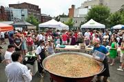 Freshfarm Markets celebrated 15 years of growing its producer-only fresh  markets with a July 15 birthday party in Dupont Circle. ThinkFoodGroup's giant paella.