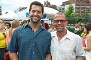 Freshfarm Markets celebrated 15 years of growing its producer-only fresh  markets with a July 15 birthday party in Dupont Circle. Pablo Solanet and Mike Koch of Firefly Cheese.