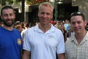 Capitol City Brewing Co. in Shirlington hosted its ninth annual Oktoberfest Beer Festival Oct. 4. Among the 4,500 revelers were, from left, Mike McCarthy, brewmaster for Capitol City Brewing Co.; David von Storch, owner of Capitol City Brewing Co.; and Jeffrey Beaudoin, CFO for Urban Adventures Cos., which owns Capitol City Brewing Co.