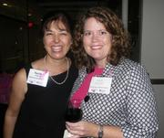 Kilpatrick Stockton LLP brought about 100 people to the Newseum Oct. 1 to honor the American Cancer Society and to raise awareness for the Oct. 19 Making Strides Against Breast Cancer Walk. The guest list included, from left, Sarah Bazen of Kilpatrick Stockton and Kelly Howley of The American Cancer Society.