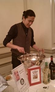 Eddie Kim from Room 11 serves up some punch.