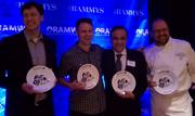 Michael Babin, Cathal Armstrong, Ashok Bajaj and Jeff Black, all nominees in the Restaurateur category.