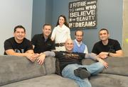The Fortify team at The Fort on K Street NW. Founder and General Partner Jonathon Perrelli is seated in the front with, left to right, Eric Avala, Adam Fazackerley, Carla Valdes, David Lide and Dave Sandrowitz.