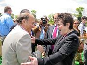 The Washington Kastles made a big move in the summer of 2011, when they relocated their stadium from the City Center parking lot to the Stadium at the Wharf. Mark Plotkin greets World TeamTennis Founder Billie Jean King at the debut of the new stadium.