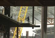 Here's the interior of the Washington Convention Center under construction in June 2001.
