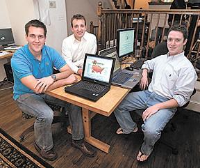 HotPads founders John Fitzpatrick, from left, Douglas Pope and Matt Corgan, launched their apartment-finding business, appropriately, in Pope and Corgan's apartment in 2005.