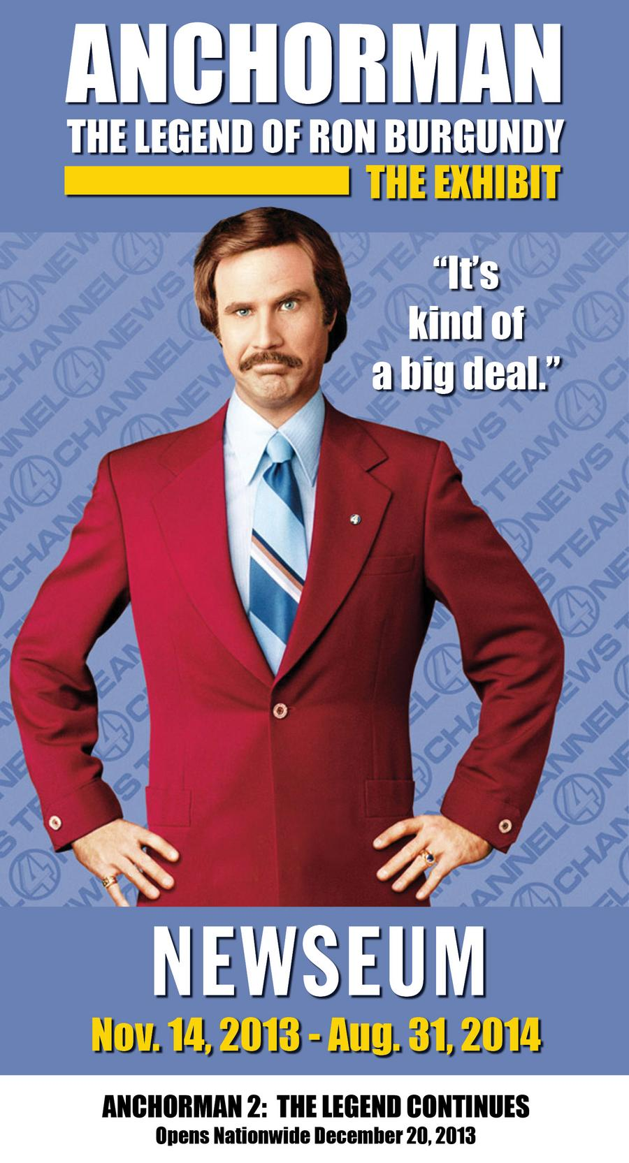 Stay classy, Washington: 'Anchorman: The Exhibit' coming to