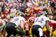 Robert Griffin III calls out the play against the Baltimore Ravens. He finished 15-26 for 246 yards passing and one touchdown.