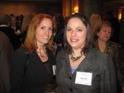 Colleen Scott of CCS Project Management, left, with Kate Lebar of RLJ Lodging Trust at Women & Wine VIII.