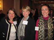 From left, Debbi Baum of Pillsbury, Maureen Dwyer of Goulston & Storrs and Stacy Murchison of Chevy Chase Trust at Women & Wine VIII.