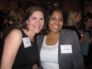 Kim Sullivan of Gensler, left, with Anitra Androh of Saul Ewing LLP at Women & Wine VIII.
