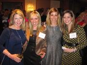From left, Laura Morris of Perkins + Will, Nicole Miller of Studley, Oyku Hanna of KGO Project Management and Tracey Lawhon of Bognet Construction at Women & Wine VIII.