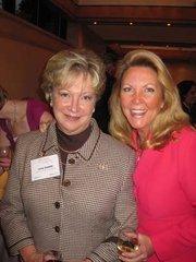 Linda Rabbitt of Rand Construction, left, with Sherry Cushman of Cushman & Wakefield at Women & Wine VIII.