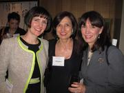 From left, Jennifer Nygard of Everard's Clothing, Cathy Delcoco of CBRE and Denise Bloomfield of Bloomfield & Co. at Women & Wine VIII.