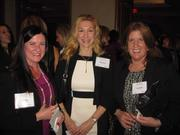 From left, Kim Dize of Office Movers, Dawn Peters of Naked Health and Lisa Motley of Hilton Worldwide at Women & Wine VIII.