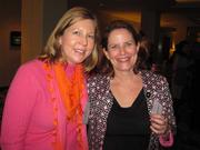 Amy Carter of ESOARC Studio, left, with Katie Eisenhower of Mark G. Anderson Consultants at Women & Wine VIII.