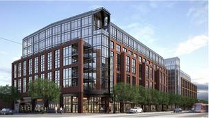 A rendering of Insight Property Group's mixed-use project planned for the 600 block of H Street NE.