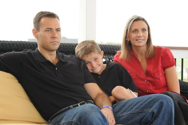 Ann Marie King and husband Jeremy, with their son Conner, in September 2010. The couple founded  the Hyperemesis Education and Research Foundation out of their Loudoun home to raise awareness of the disorder, but nothing worked as well as Kate Middleton's recent hospitalization.