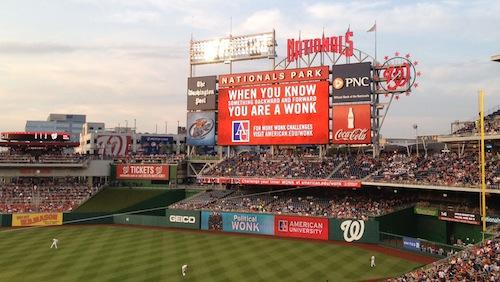 Part of the American University ad campaign targeting fans of the Washington Nationals