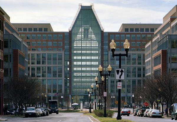 The U.S. Patent and Trademark Office in Alexandria accounts for a big chunk of local tax revenue.