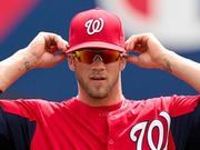 Bryce Harper of the Washington Nationals went to bat for Baltimore's Under Armour last year.