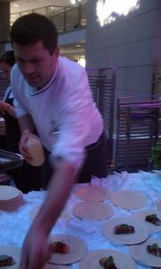 Bertrand Chemel of 2941 serves crabmeat wrapped in plums at the Capital Food Fight.