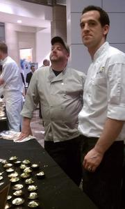 Justin Bitner of Bar Pilar and Billy Klein of Saint Ex at the 2012 Capital Food Fight.