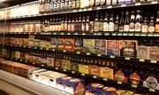 Beer selection at Dawson's Market in Rockville.