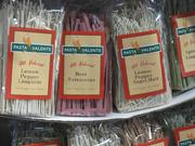 Unusual flavored pastas, such as beet.