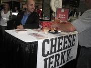 Cheese jerky was another unique product at the show.
