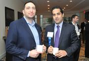 Adam Tiffen of Tri-Star Collaborative and Ali Mozaffar of HSBC attended the 2013 Economic Outlook breakfast at the McLean Hilton on Friday.