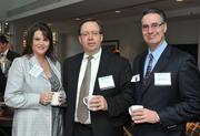 Shannon Jameson of Dixon Hughes Goodman; Steven Miller, Reston Interfaith; and C. Michael Ferraro, Training Solutions, Inc. attended the 2013 Economic Outlook session hosted by the Washington Business Journal and the Fairfax County Chamber of Commerce at McLean Hilton.