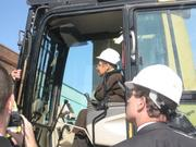 Del. Eleanor Holmes Norton also got her hand on the controls.