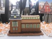 Gingerbread house version of the redeveloped CityMarket at O.