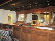 An upstairs bar, under construction.